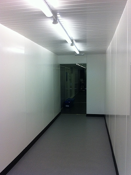 Commercial Electrical Services temporary link corridor lighting