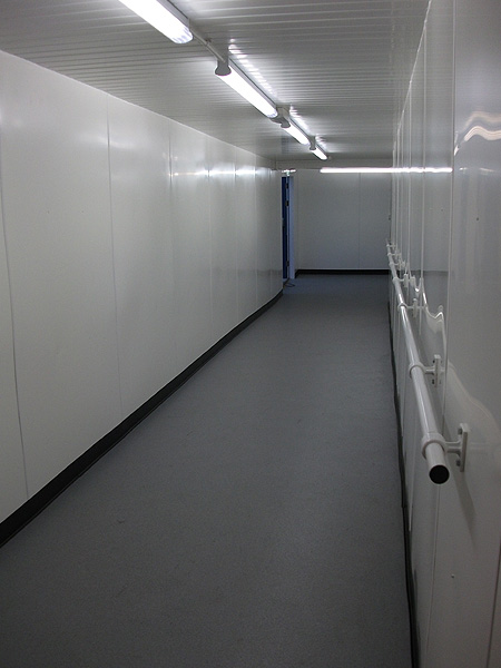 Commercial Electrical ServicesCommercial Lighting Installation for temporary Hospital Walkway CorridoCommercial Lighting Installation for temporary Hospital Walkway Corridor