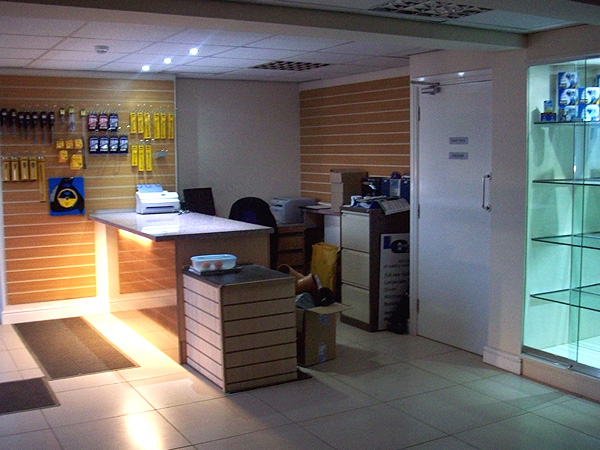 Commercial Electrical Services Shop Display Lighting