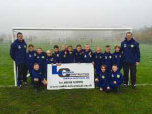 Photo of Worksop Boys U9's football team in their new Training Jackets